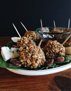 Smokey Almond Crusted Blue Cheese Meatballs