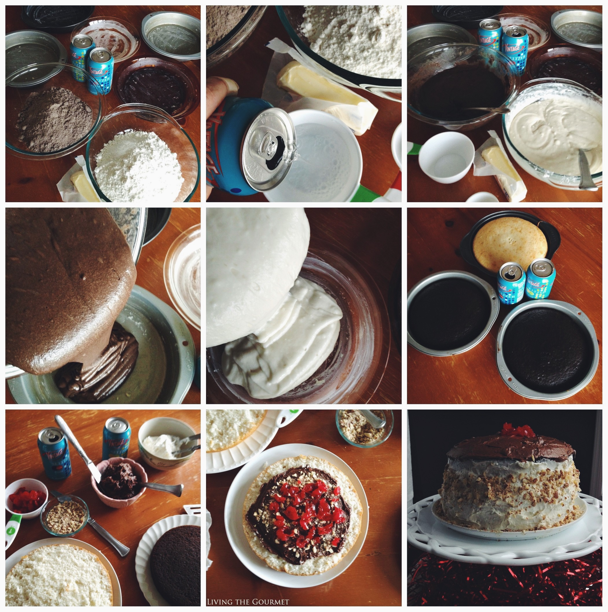 Living the Gourmet: Black and White Seltzer Cake | #DrinkVintage #seltzer