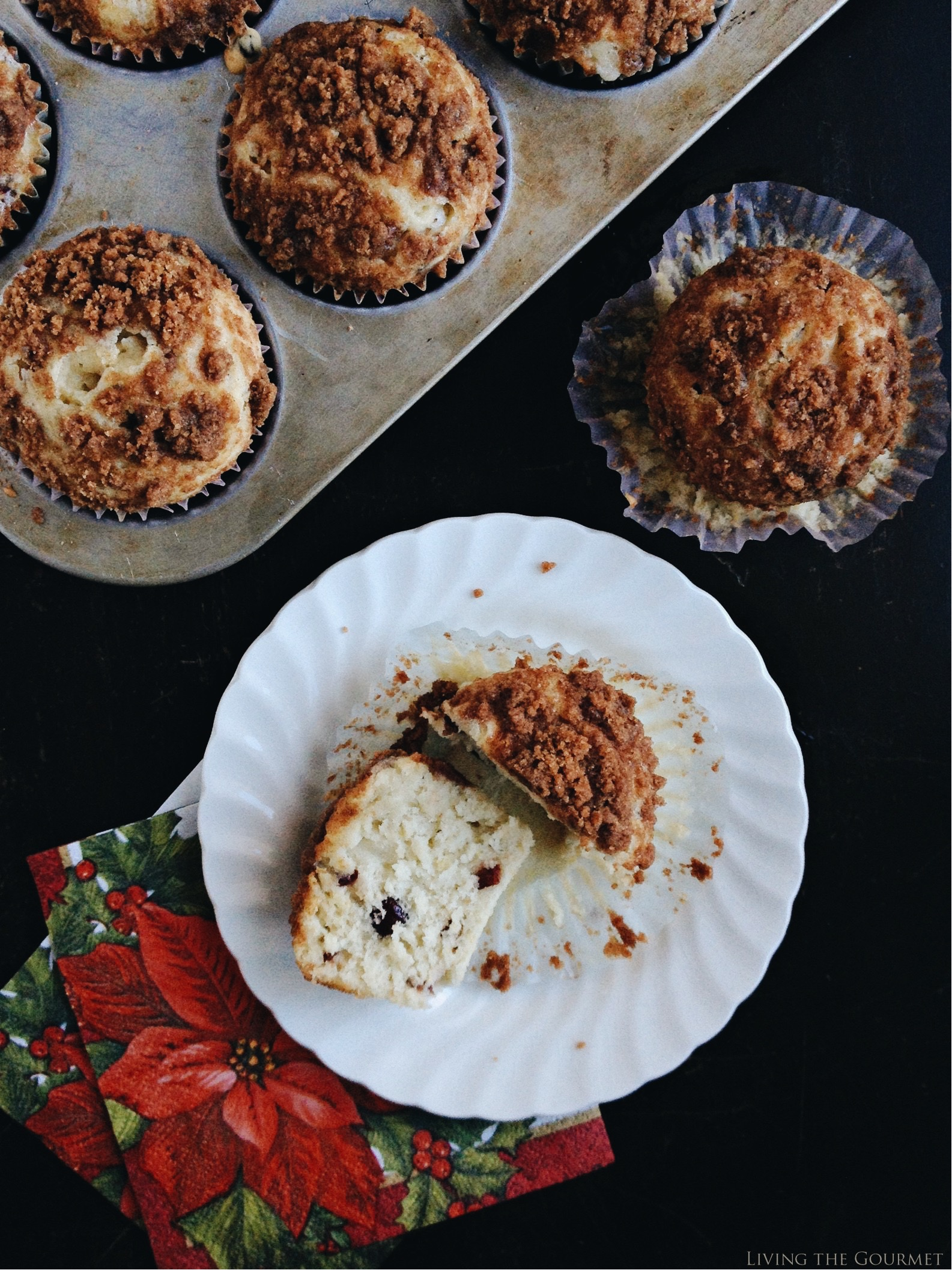 Living the Gourmet: Cranberry Cashew & Almond Milk Muffins #ad