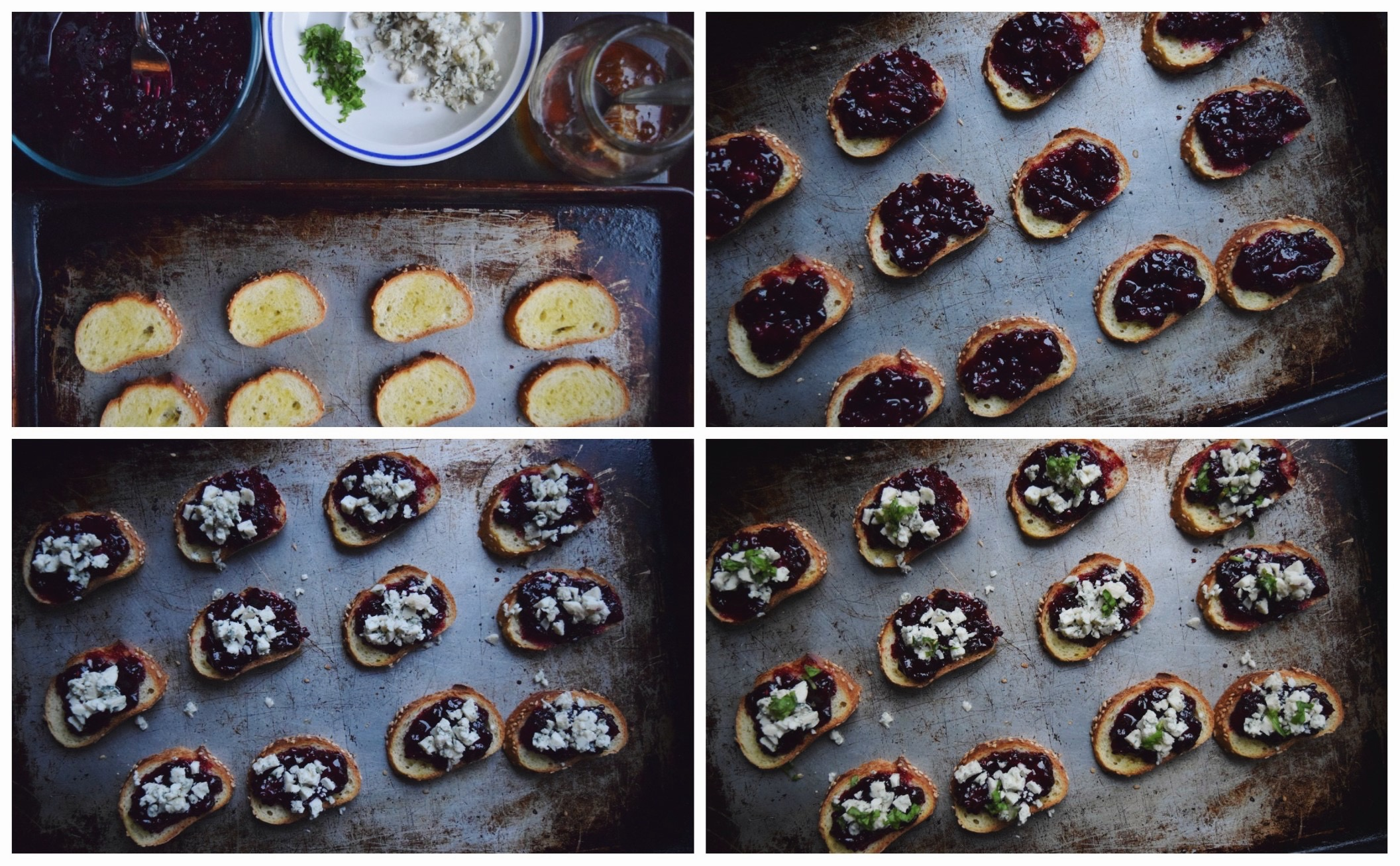 Living the Gourmet: Blackberry & Honey Crostini with Blue Cheese | Creative Cooking Crew