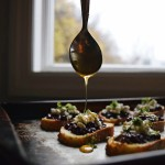 Blackberry & Honey Crostini with Blue Cheese