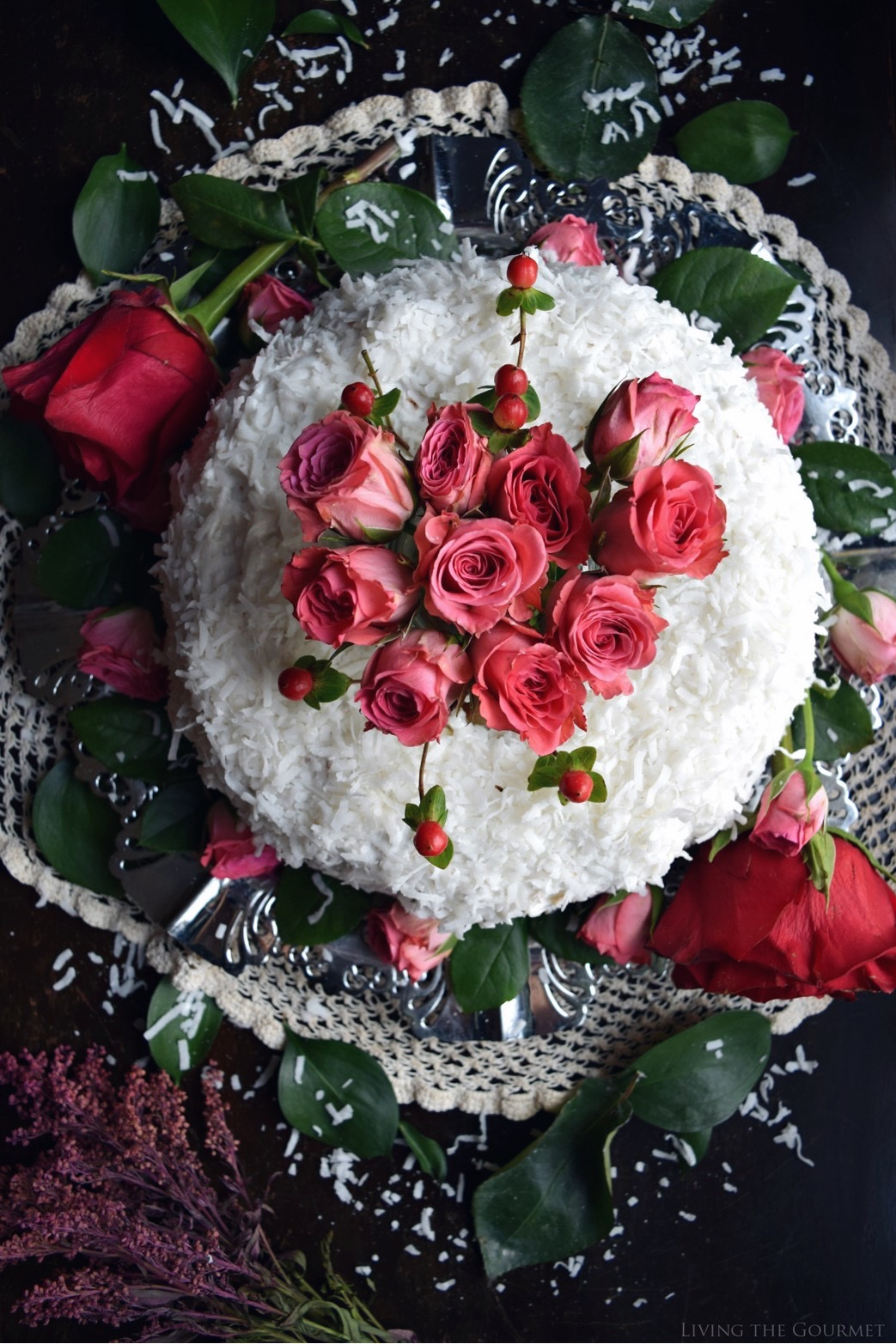 Living the Gourmet: Christmas Rose Bundt Cake | #BundtBakers