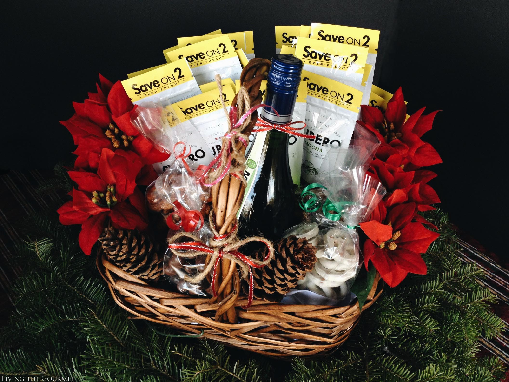 Living the Gourmet: Holiday Gift Guide: Gift Basket for Him | #masteryourblend #ad