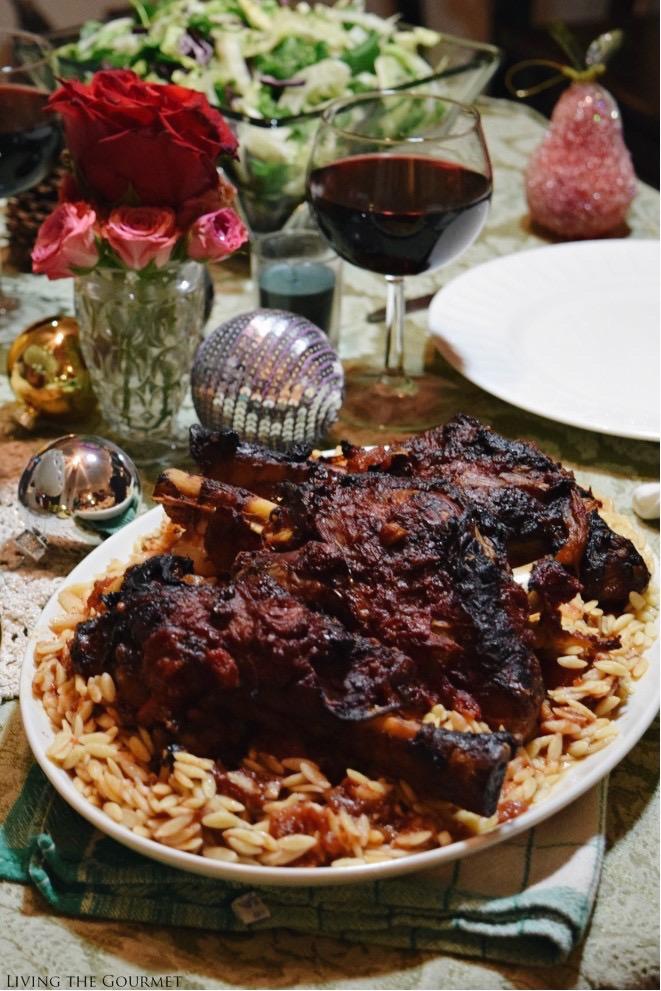 Living the Gourmet: Lamb Shanks, Karithopita, & Tea Box