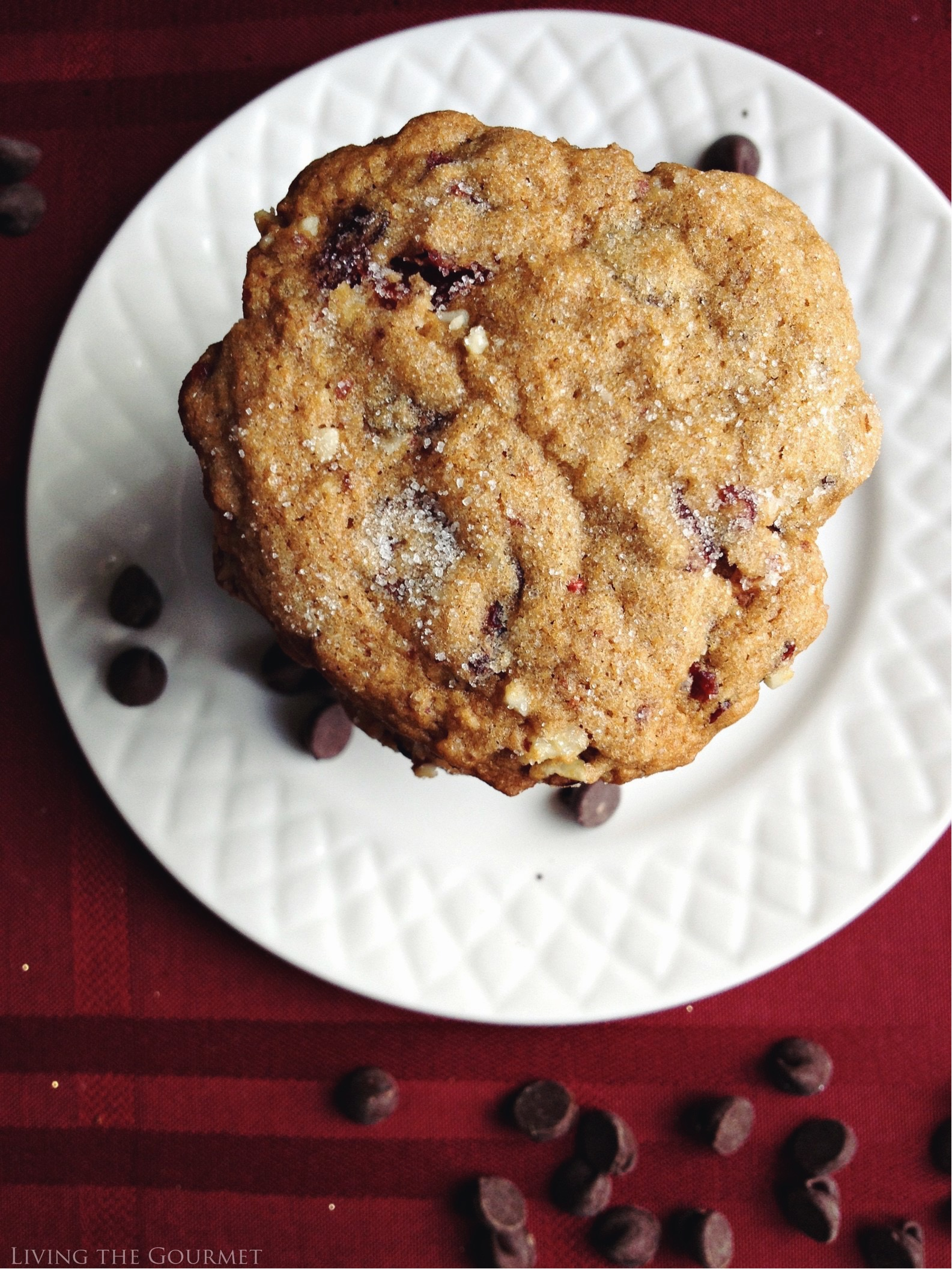 Living the Gourmet: Chocolate Chip Winter Cookies | #HolidayRemix #BakeSomeonesDay #ad