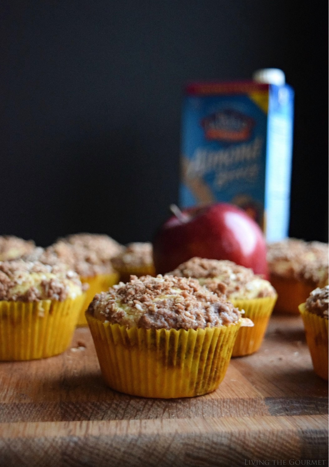 Living the Gourmet: Apple Cornmeal Muffins | #ad