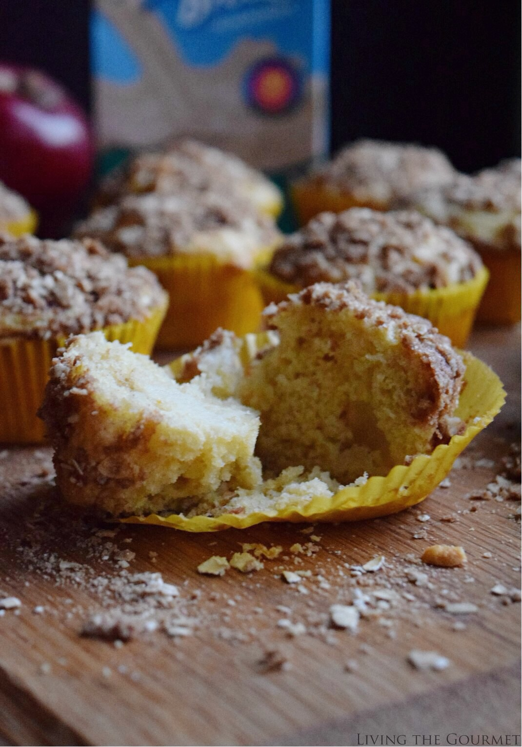 Living the Gourmet: Apple Cornmeal Muffins   #ad
