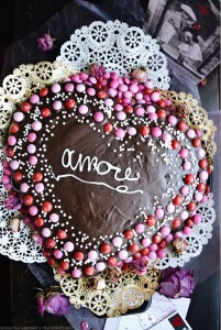 Chocolate Fudge Heart Cake