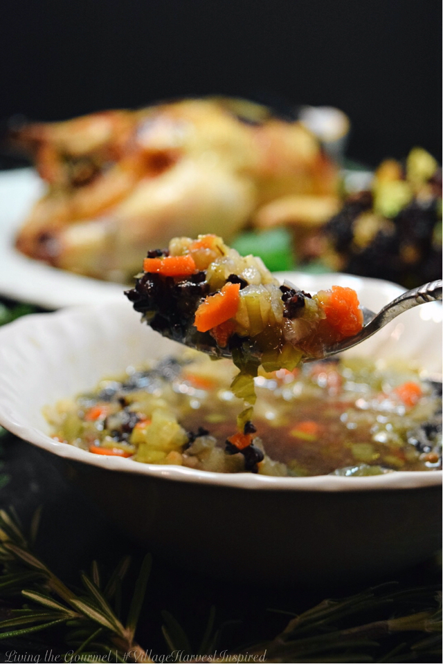 Living the Gourmet: Turnip and Leek Soup with Black Rice | #VillageHarvestInspired