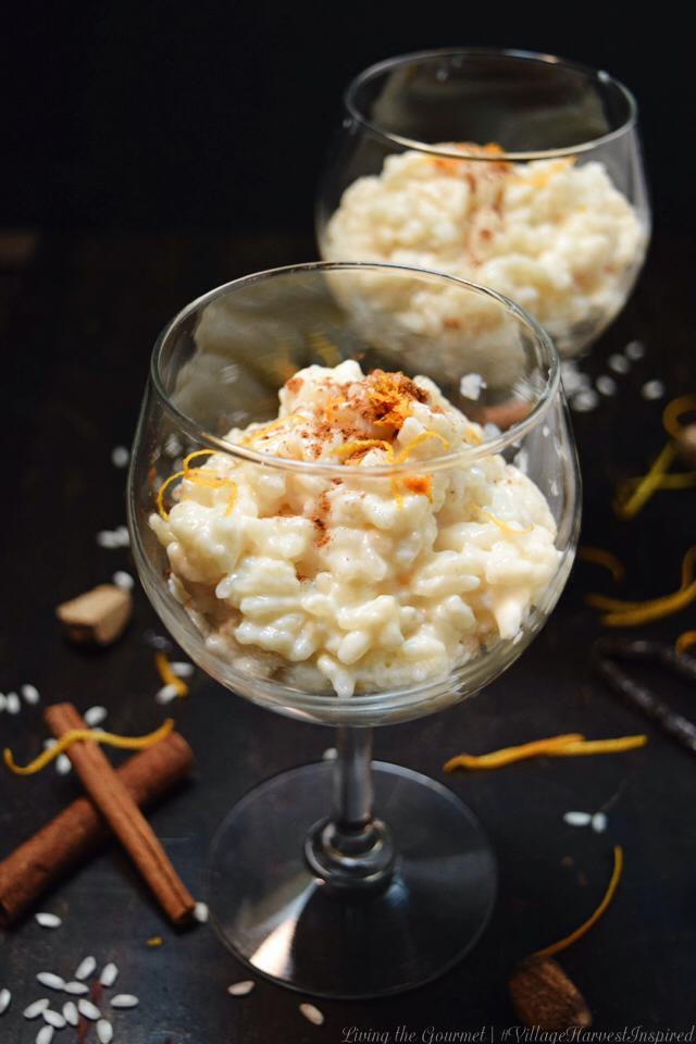Living the Gourmet: Arborio Rice Pudding | #VillageHarvestInspired