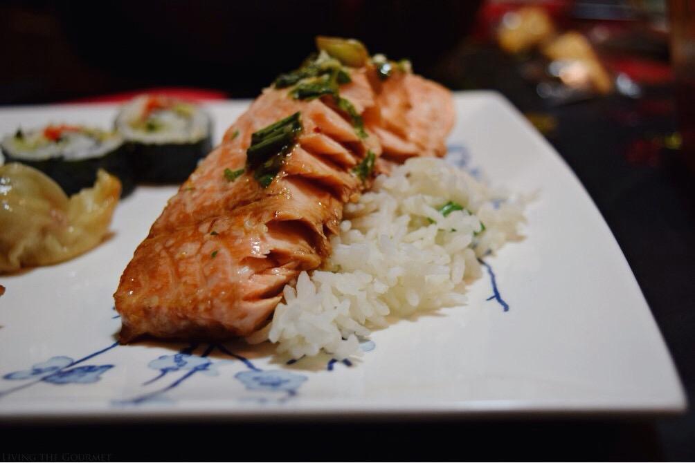 Living the Gourmet: Ginger Sesame Steamed Salmon | #KikkomanCNY