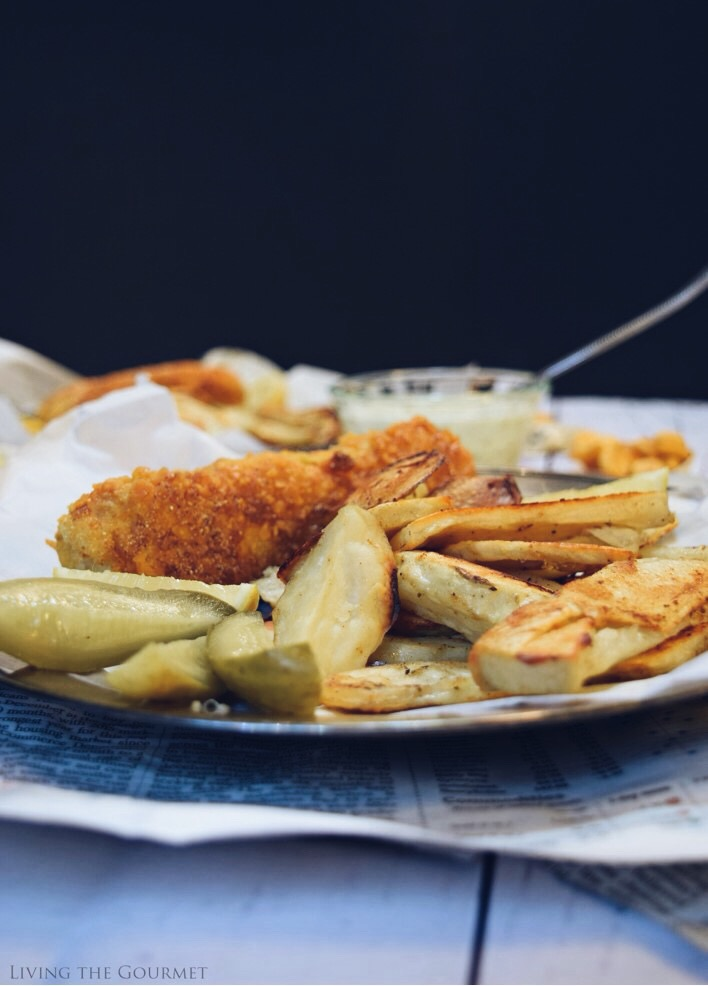 Goldfish Crackers Crusted Baked Fish And Chips Living
