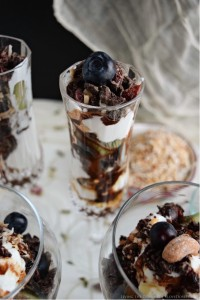 Greek Yogurt Parfaits with DOVE® Chocolate Fruit & Nut
