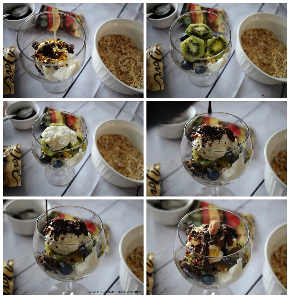 Living the Gourmet: Greek Yogurt Parfaits with DOVE Fruits and Nuts | #LoveDoveFruits #ad