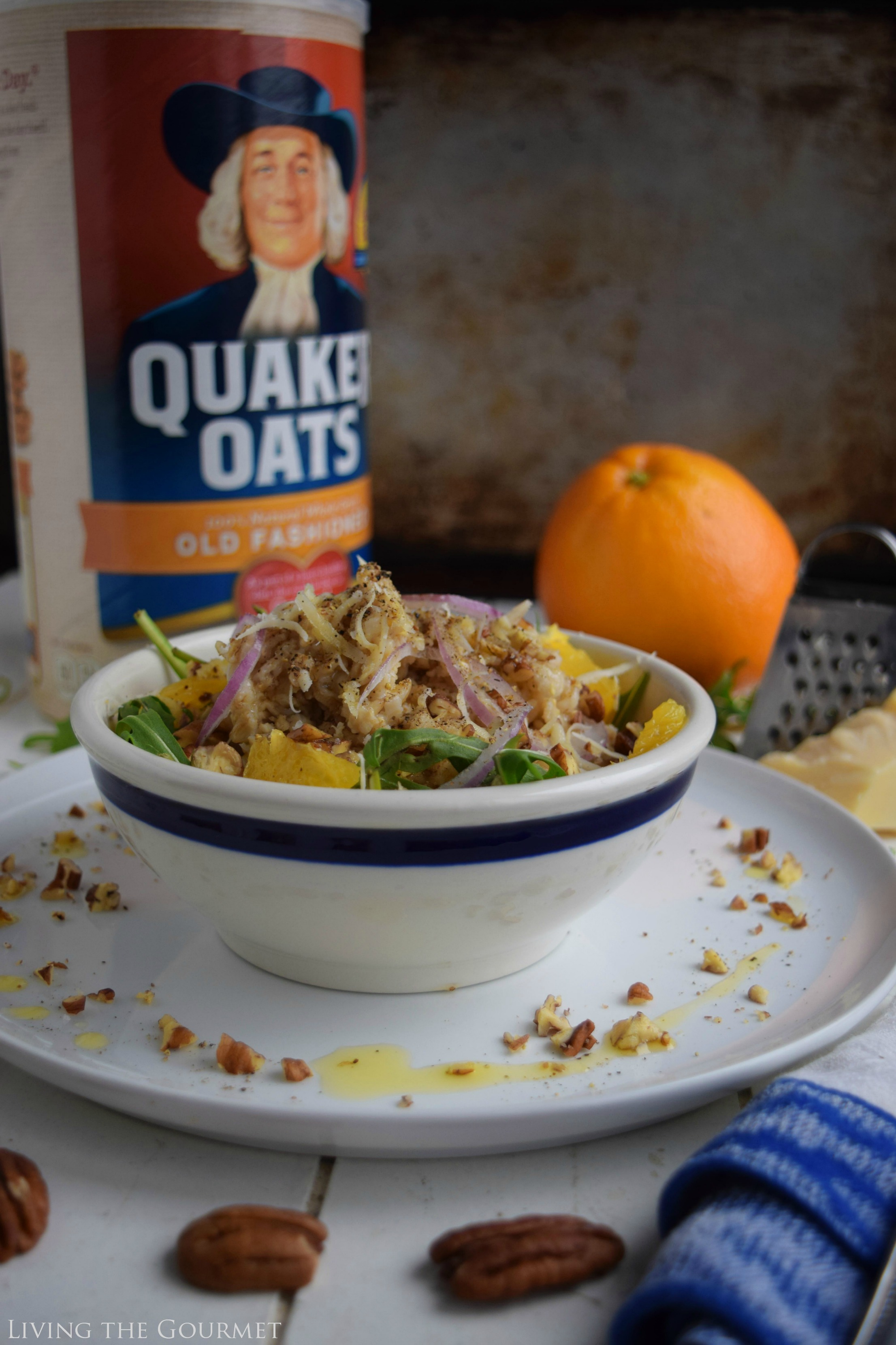 Living the Gourmet: Savory Oatmeal with Salad Greens | #BringYourBestBowl #Walmart