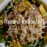 Savory Oatmeal with Salad Greens