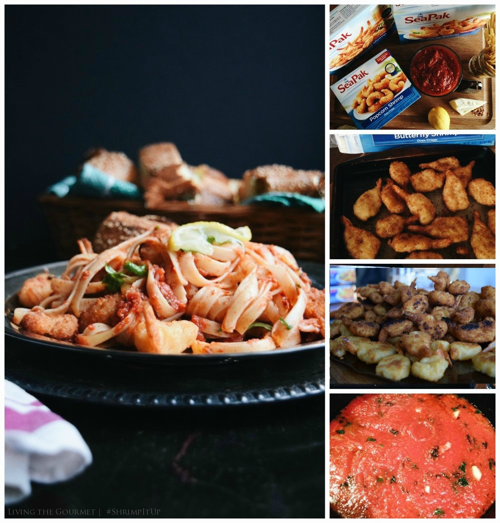 Living the Gourmet: Spicy Seafood Marinara with Pasta | #ShrimpItUp #Ad