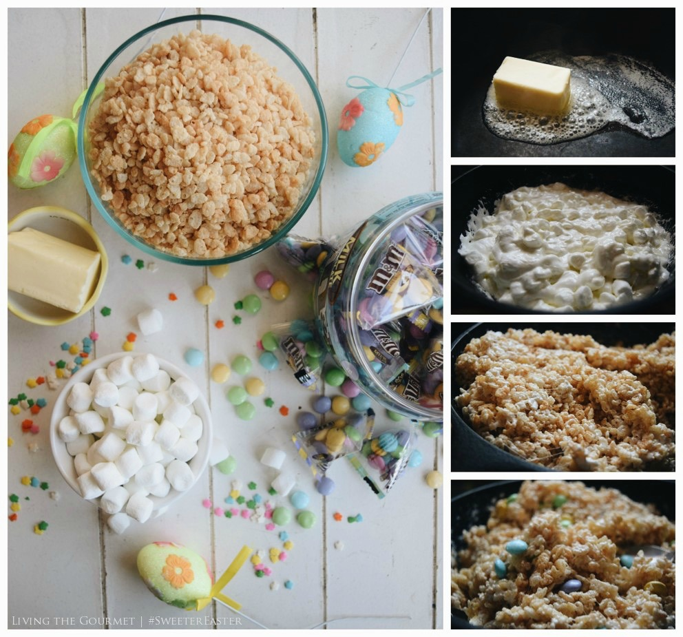 Living the Gourmet: Easter Rice Treats | #SweeterEaster #Ad