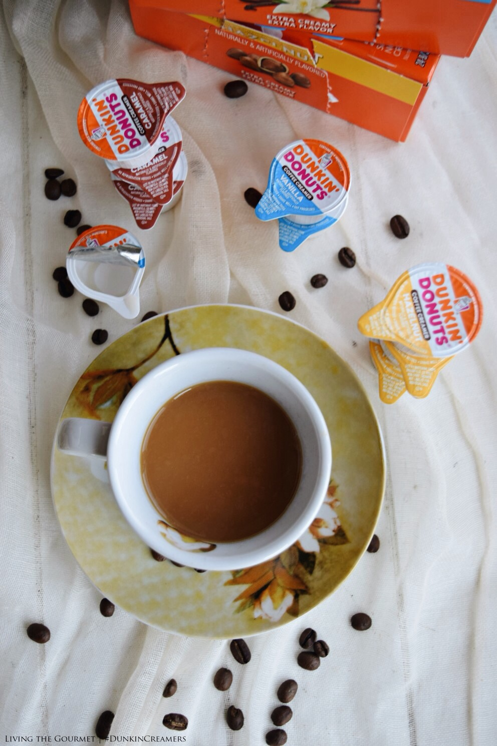 Living the Gourmet: A Guide to Brewing the Perfect Cup of Coffee   #DunkinCreamers #Ad