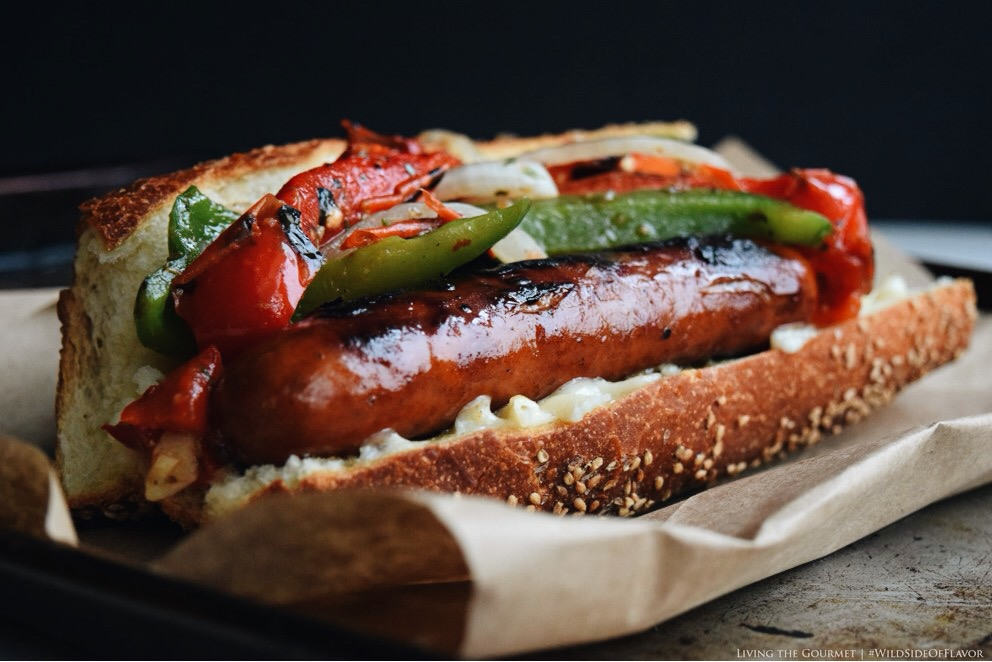 Living the Gourmet: Grilled Sausage and Peppers Sub | #WildSideOfFlavor #Ad