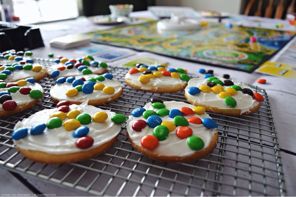 Living the Gourmet: Wheel of Life Sugar Cookies | #GameNightIn #Ad
