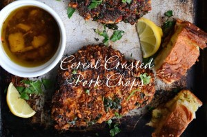 Cereal Crusted Pork Chops