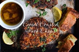 Cereal Crusted Pork Chops