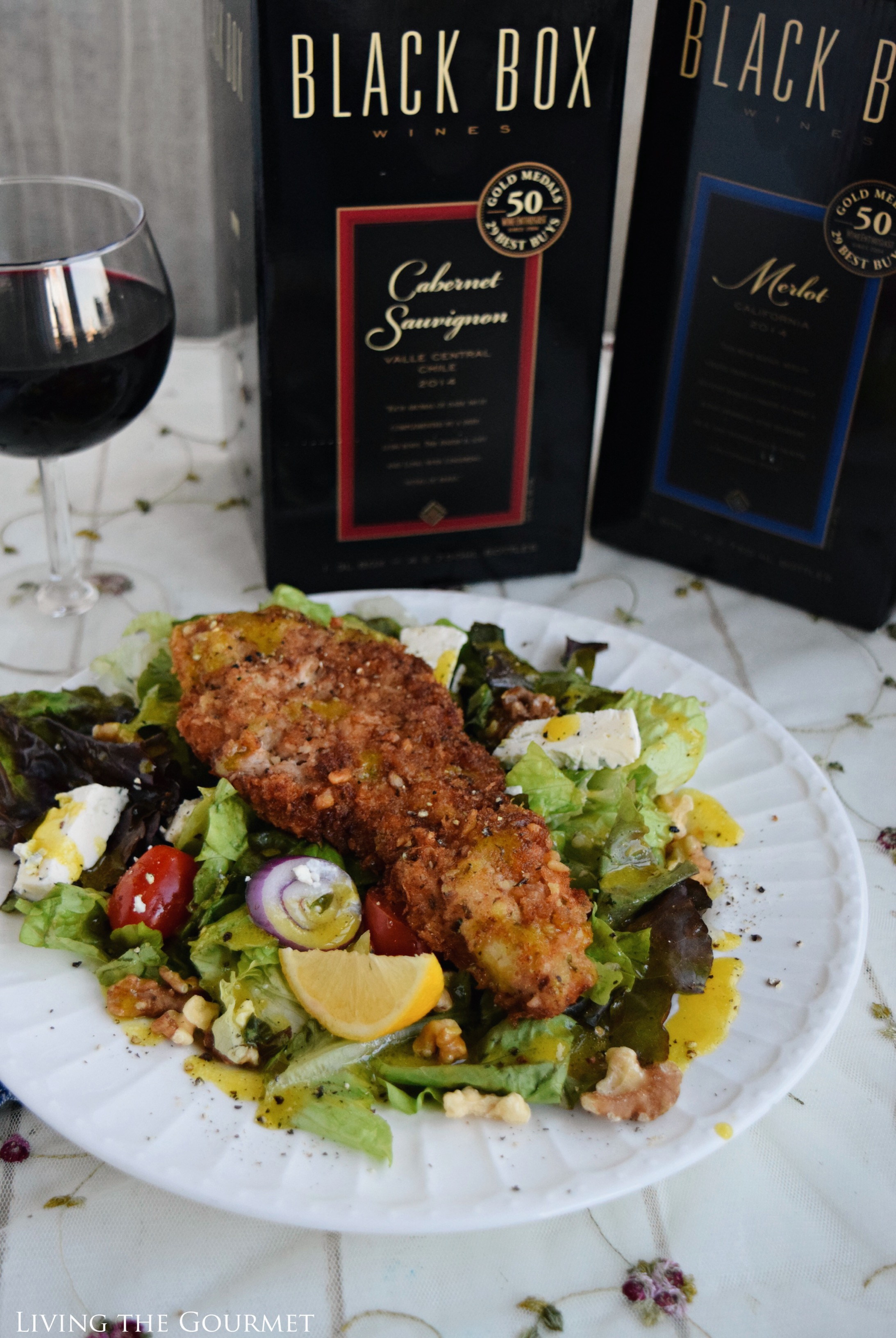 Living the Gourmet: Panko and Walnut Crusted Chicken Cutlets | #BlackBoxSummer #Ad