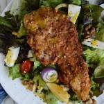 Panko and Walnut Crusted Chicken Cutlets