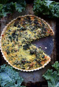 Kale and Provolone Quiche