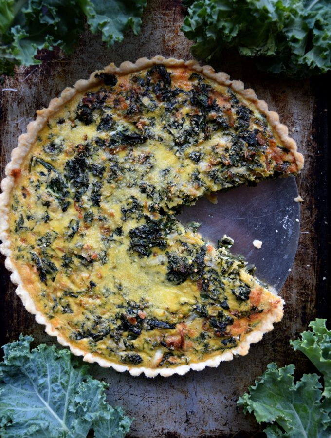 Living the Gourmet: Kale and Provolone Quiche