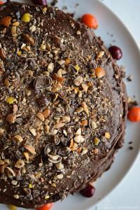 Coffee Nut Chocolate Cake