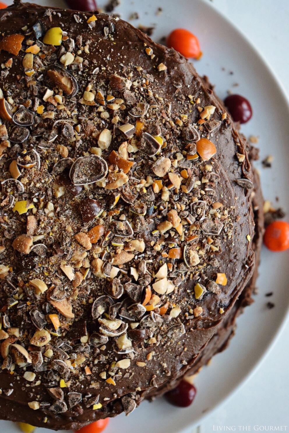 @livingthegourmet's cover photo for 'Coffee Nut Chocolate Cake - Living The Gourmet'