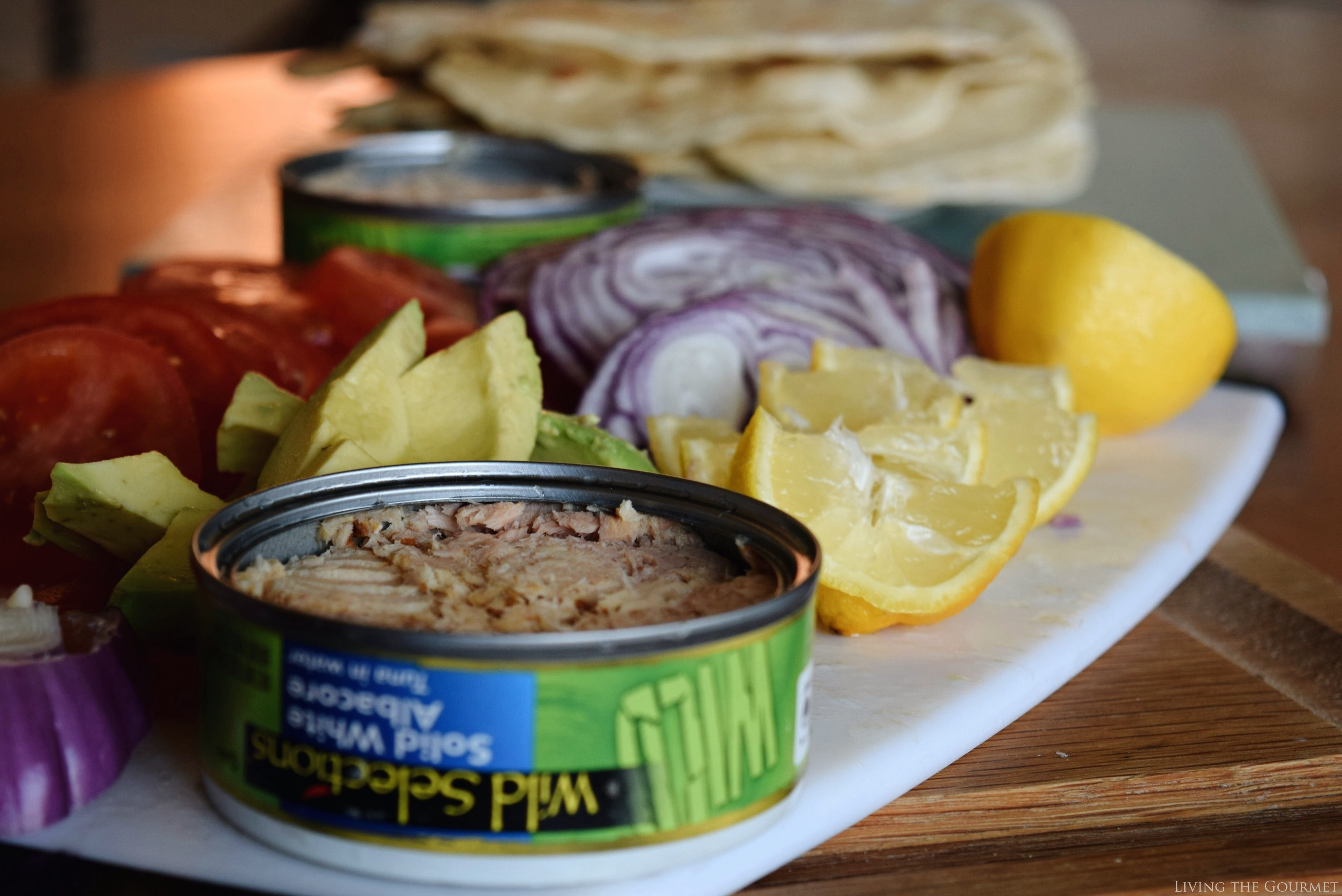 Living the Gourmet: Tuna Salad with Fresh Flatbreads | #WildSelections #sponsored