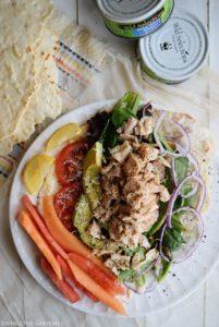 Tuna Salad with Homemade Flatbreads