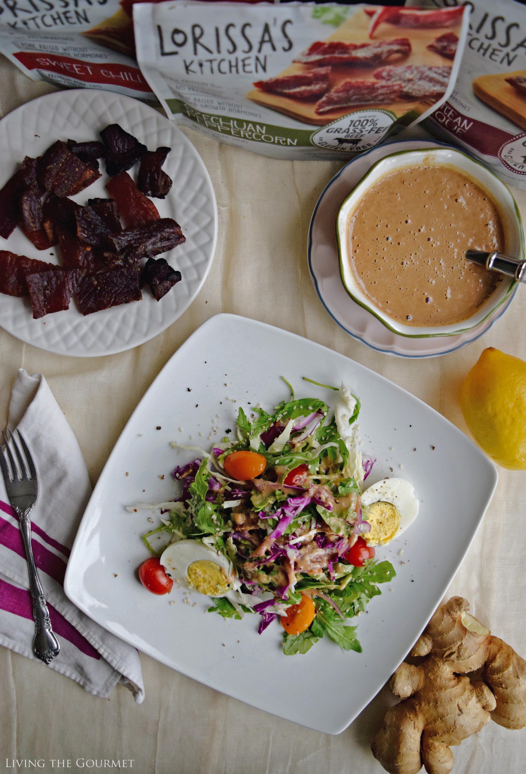 Living the Gourmet: Fresh Salad Greens with Sesame Ginger Vinaigrette   #SavvySnacking #ad