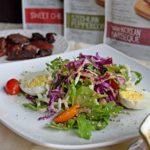 Fresh Salad Greens with Sesame Ginger Vinaigrette