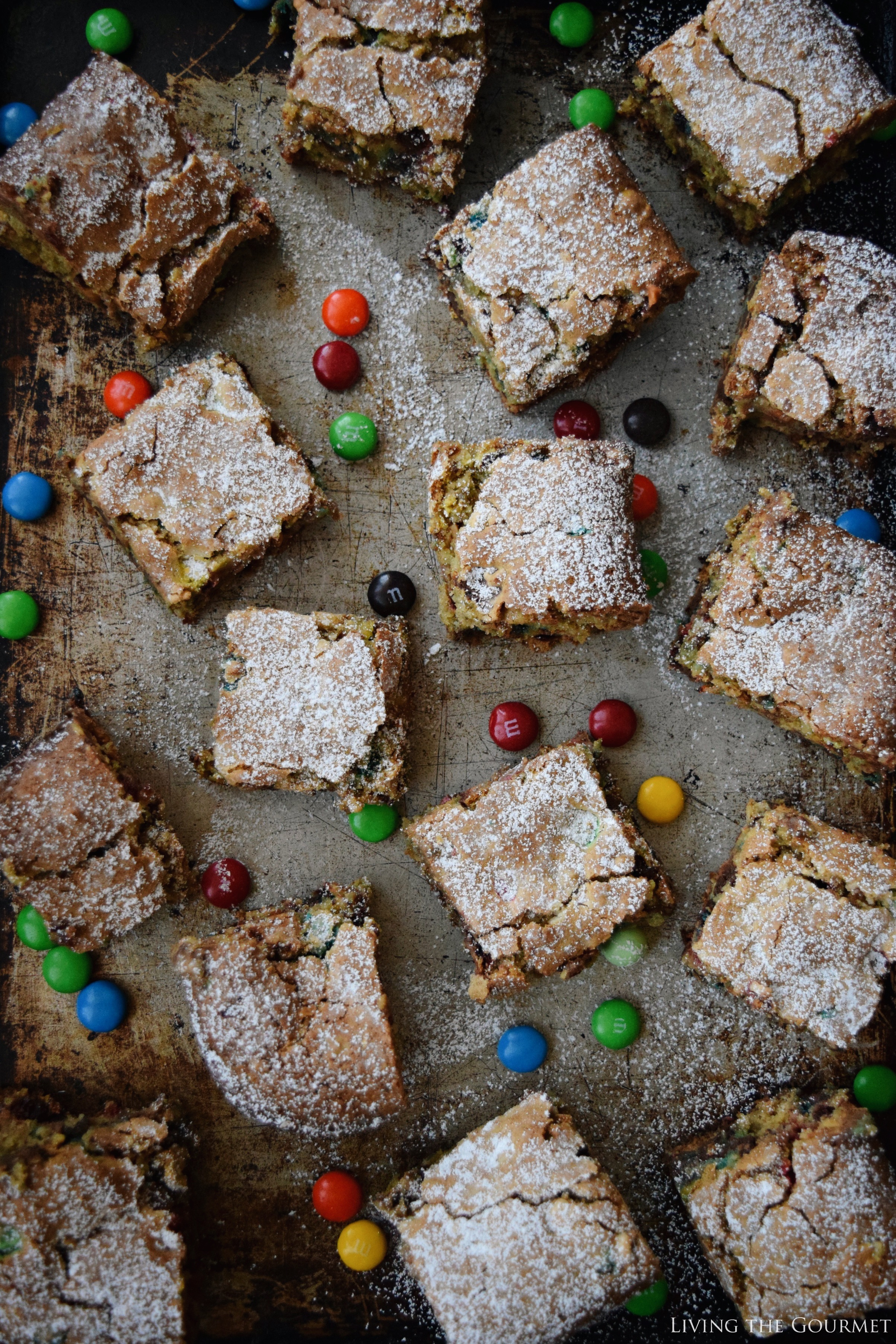 Living the Gourmet: Fudge Blondie Bars aka Fabulous Blondies