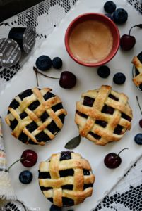 Mason Jar Lid Pies & Gourmesso Coffee