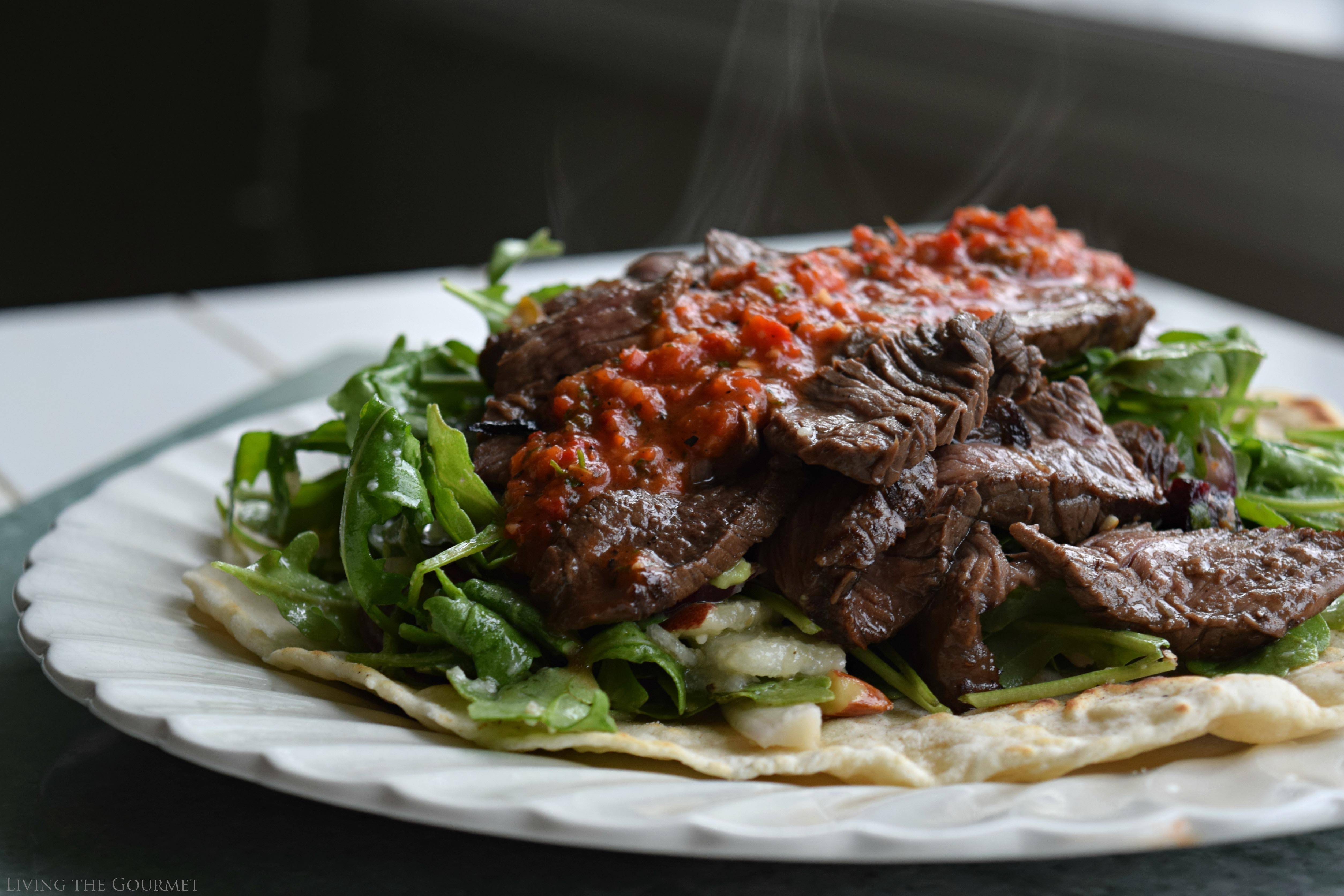 Living the Gourmet: Asian Style Sliced Steak with Fresh Bell Pepper Salsa