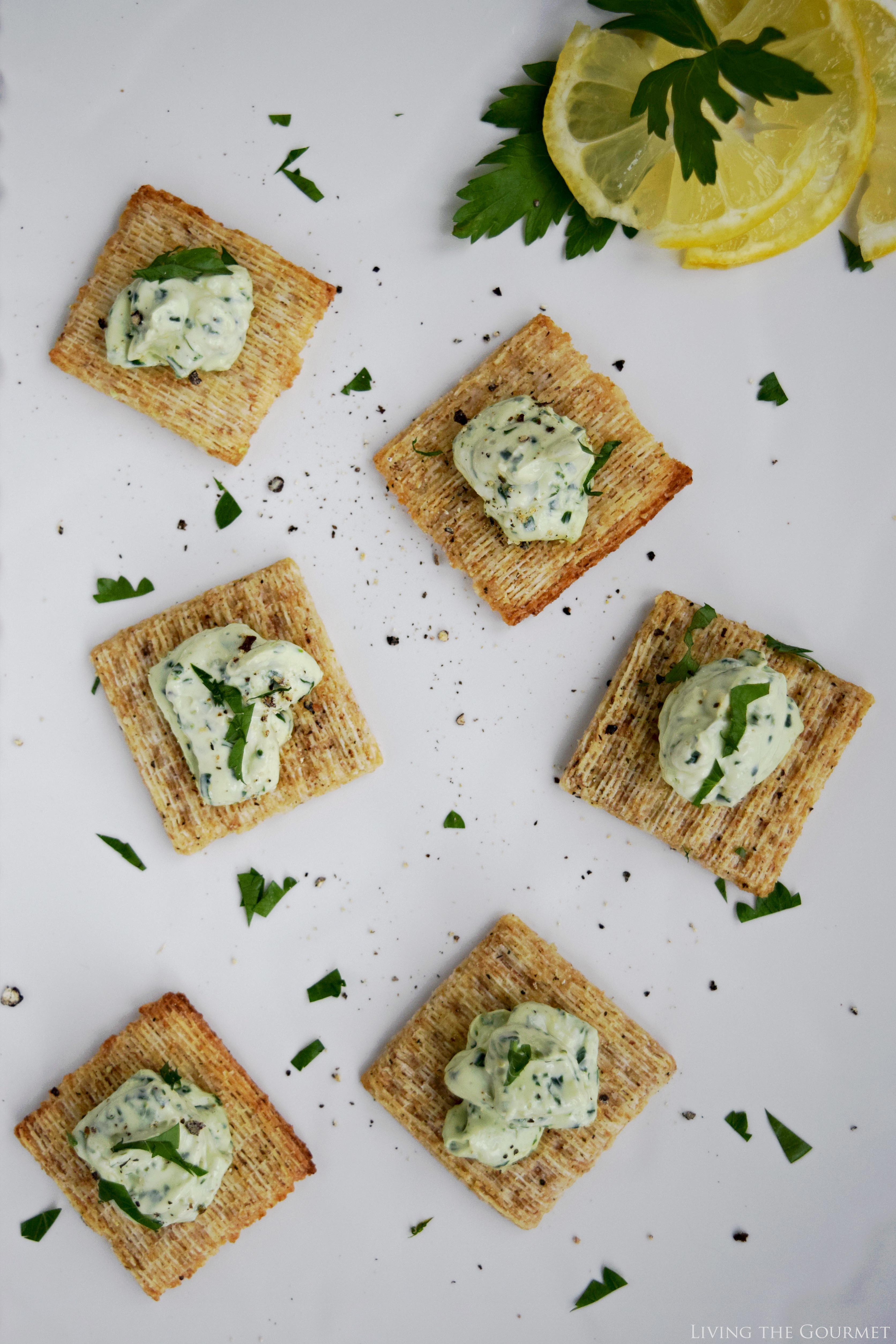 Living the Gourmet: Fresh Cream Cheese Gremolata Hors D'oeuvres | #MadeForMore #Walmart