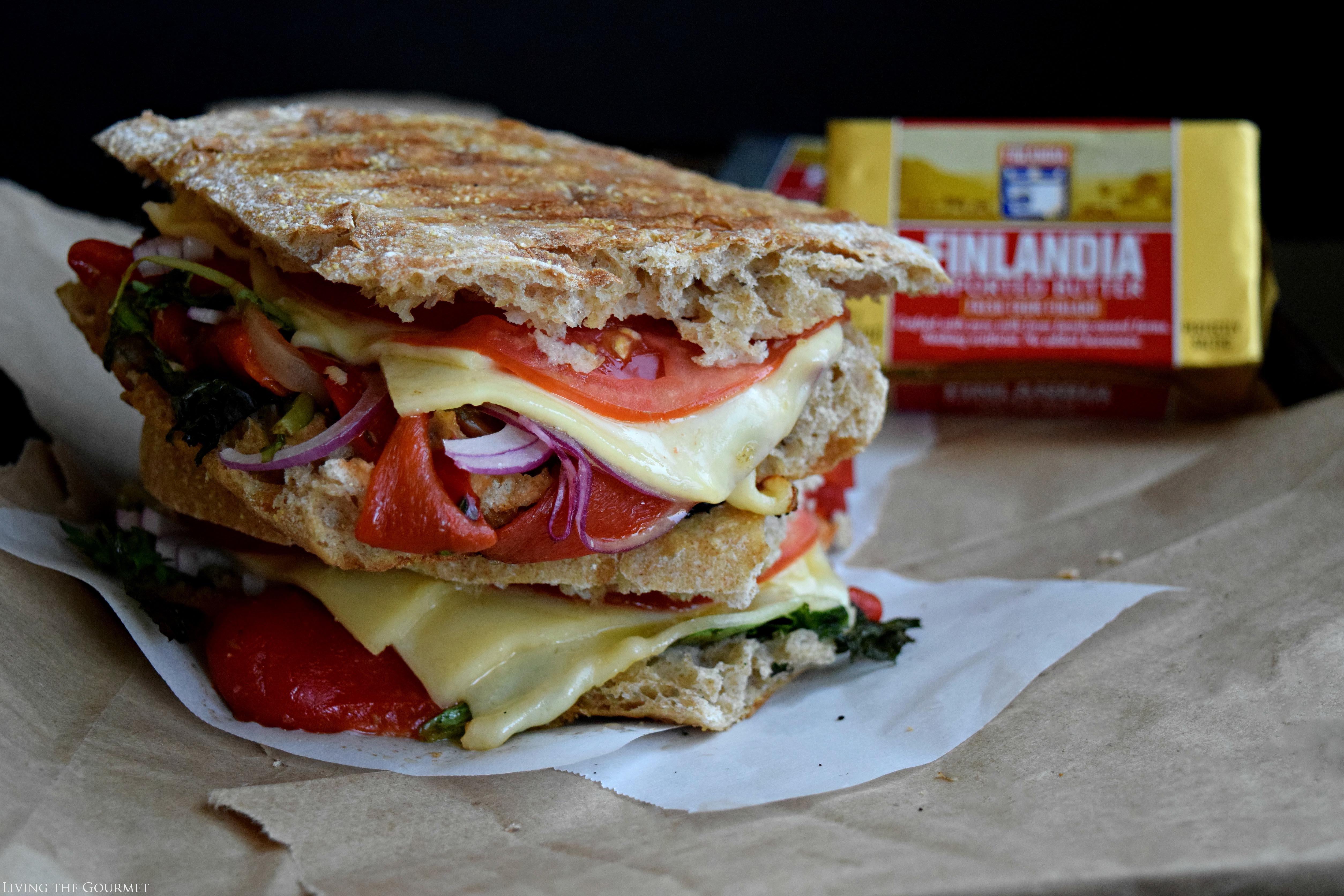 Living the Gourmet: Grilled Pepper Panini | #finlandiacheese #finlandiabutter