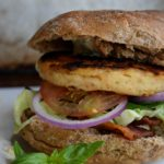 Wild Alaskan Pollock Burgers with Spicy Tzatziki