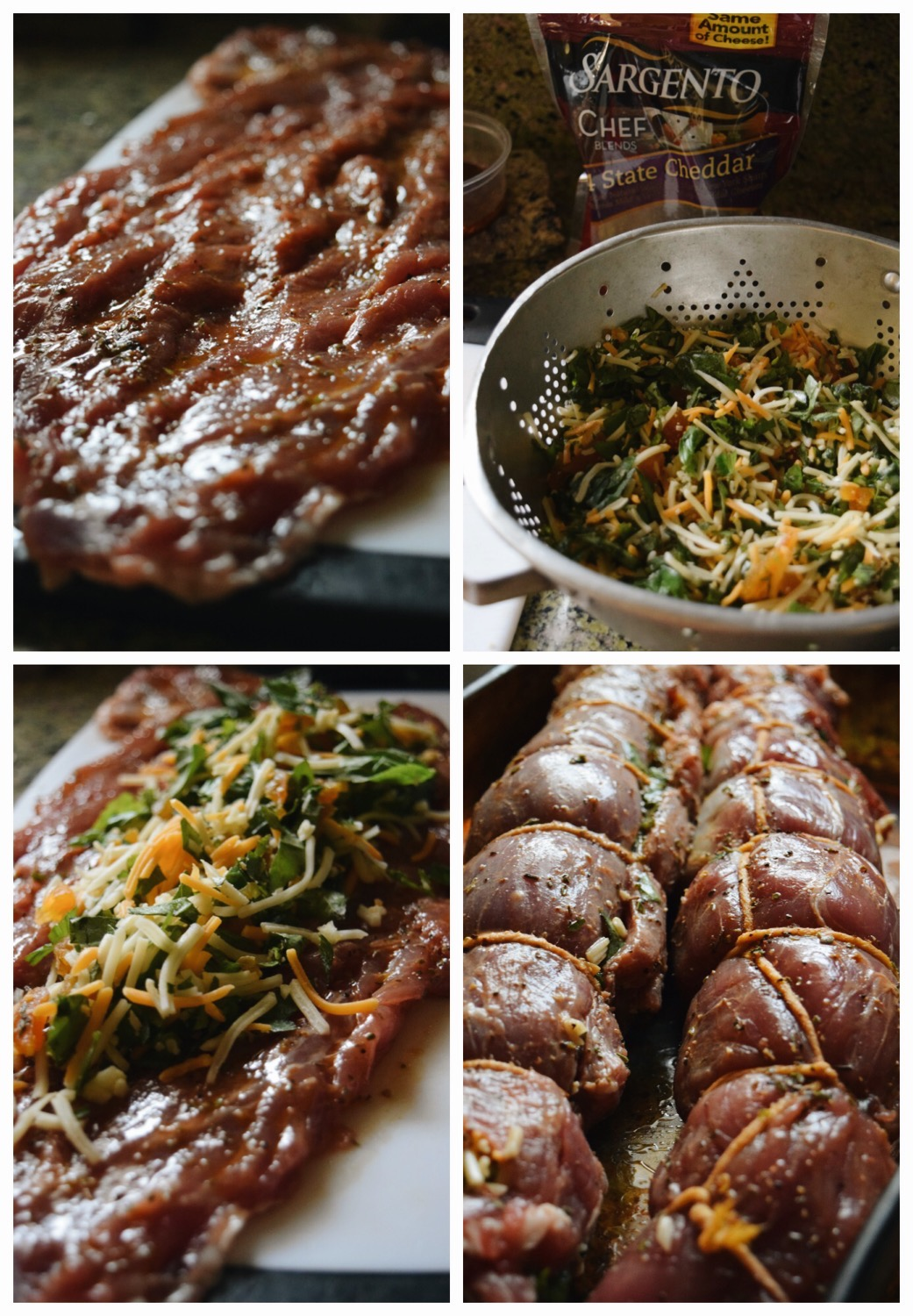 Living the Gourmet: Stuffed Pork Loin with Apricots, Basil, Garlic and Cheddar