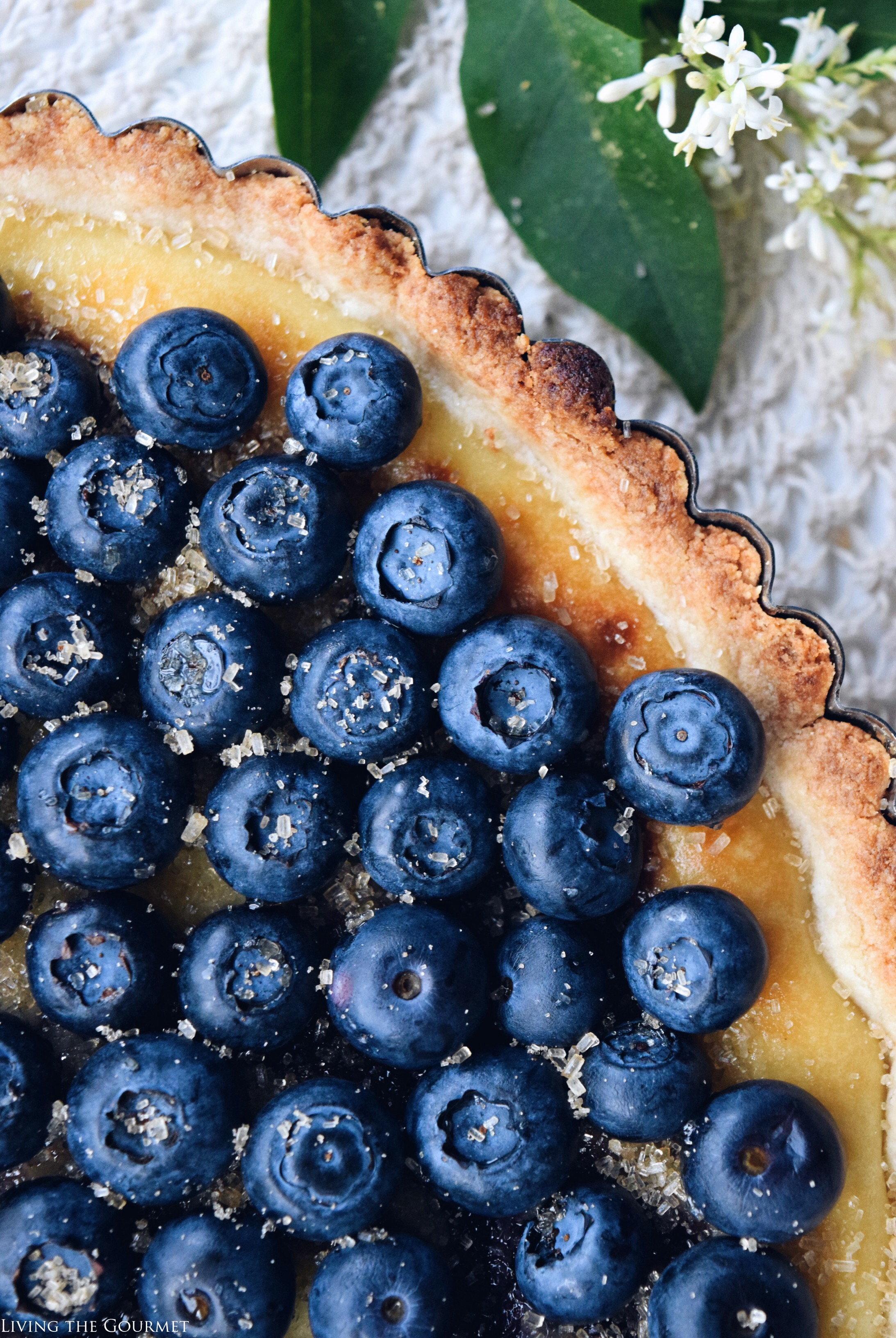 Living the Gourmet: Whipped Ricotta & Blueberry Tart