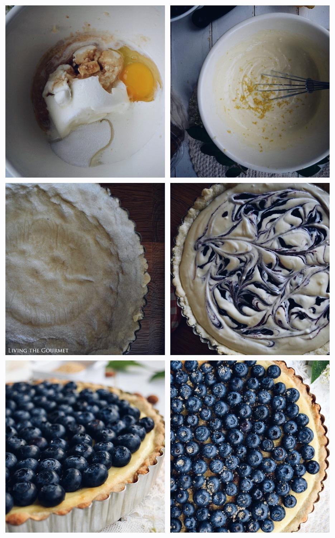 Living the Gourmet: Whipped Ricotta & Blueberry Tart