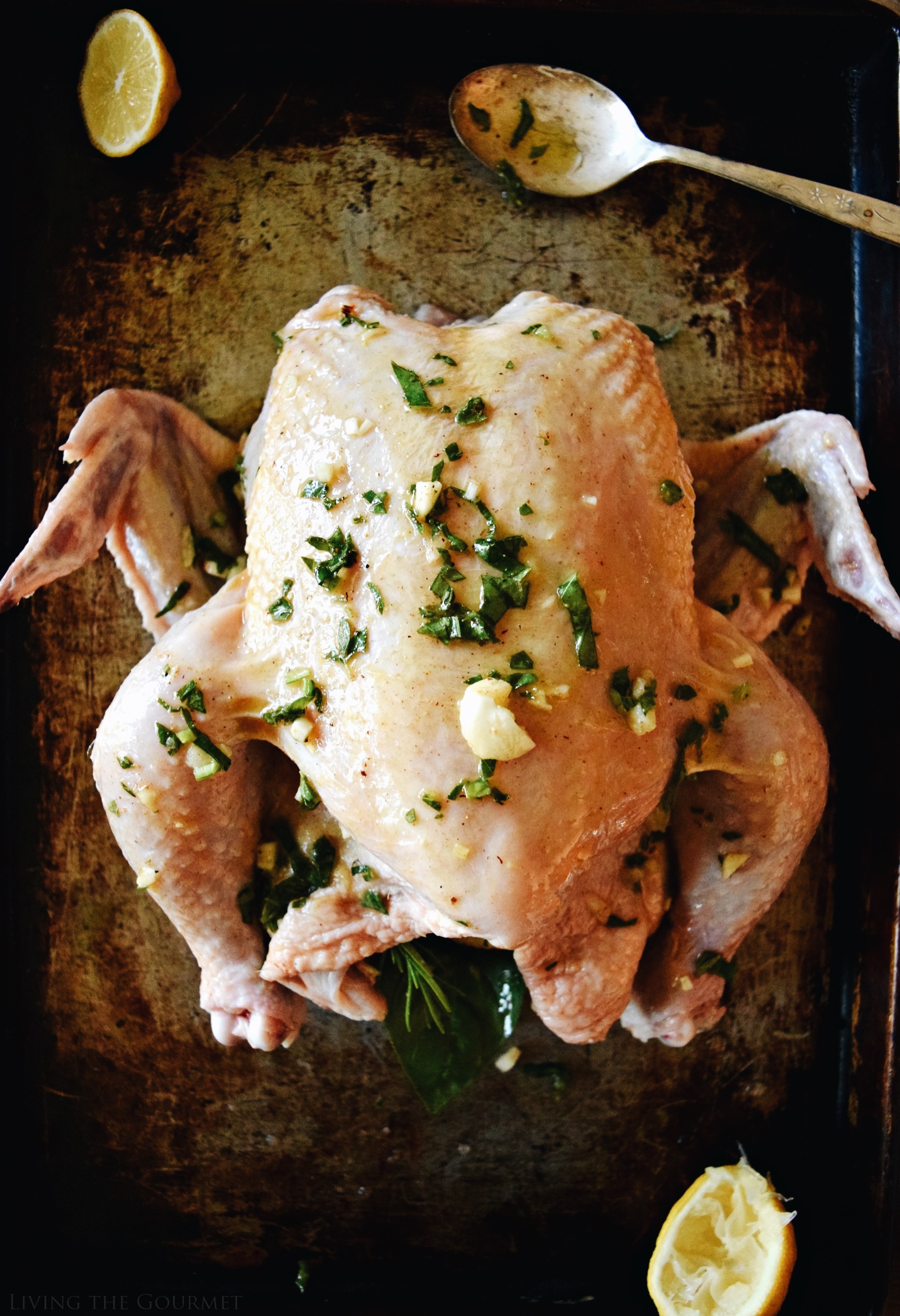 Living the Gourmet: Brown Butter Summer Roast Chicken