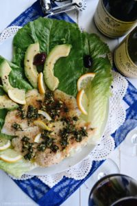 Flounder Fillets with Pesto