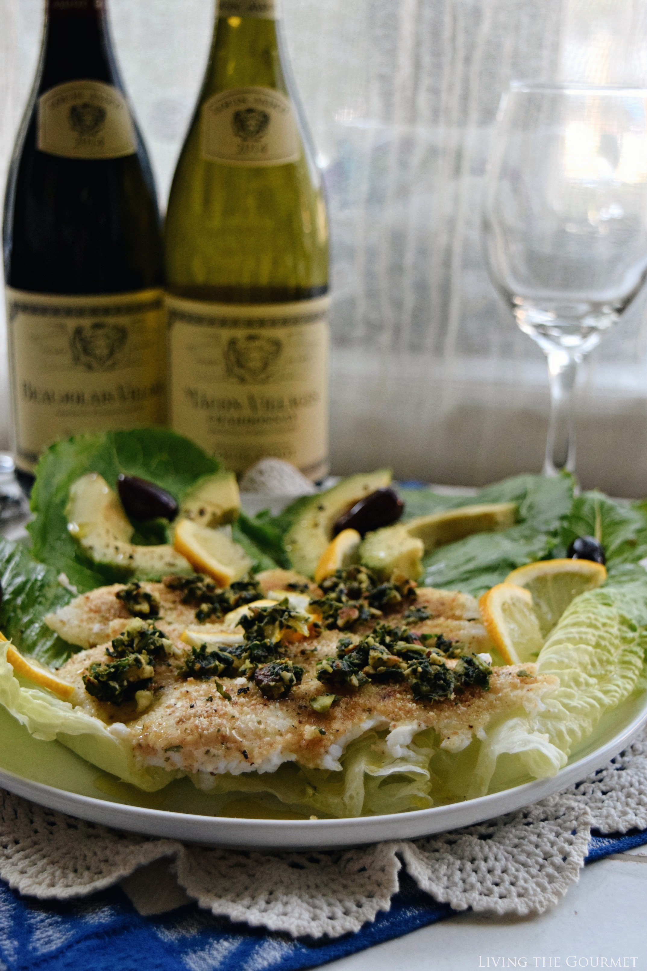 Living the Gourmet: Flounder Fillets with Pesto | #LoveJadot