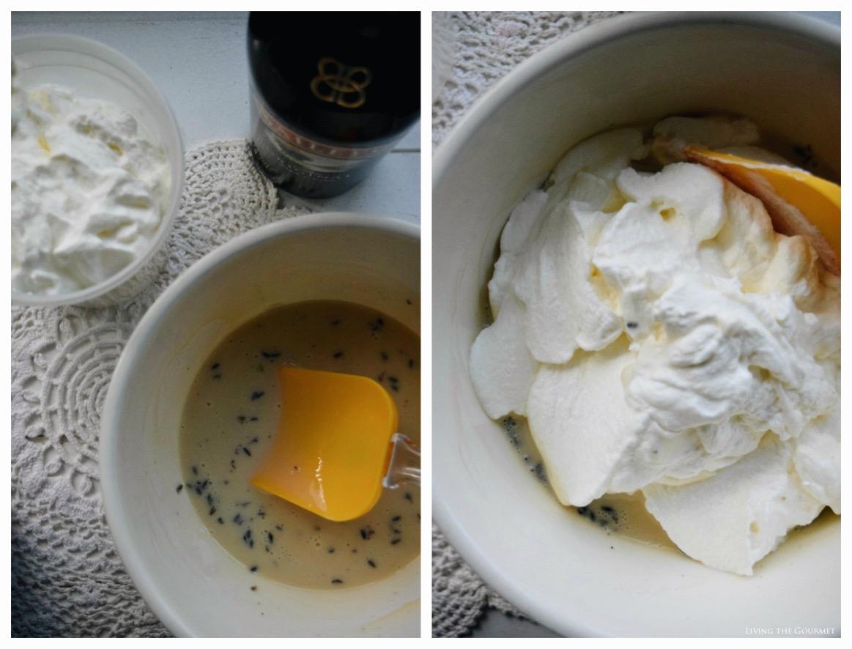 Living the Gourmet: Lavender Irish Cream Ice Cream {No Churn}